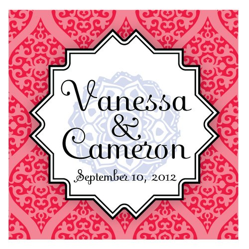 Moroccan Square Wedding Favor Tag