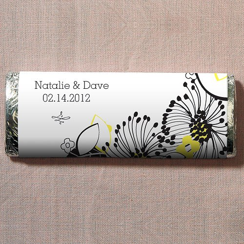 Floral Fusion Chocolate Bar Wedding Favor