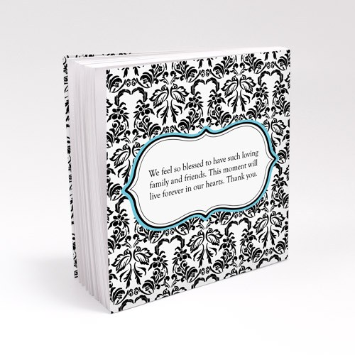 Love Bird Damask Personalized Book Style Wedding Favor Notepad