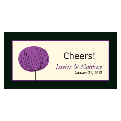 Romantic Elegance Small Wedding Reception Drink Ticket