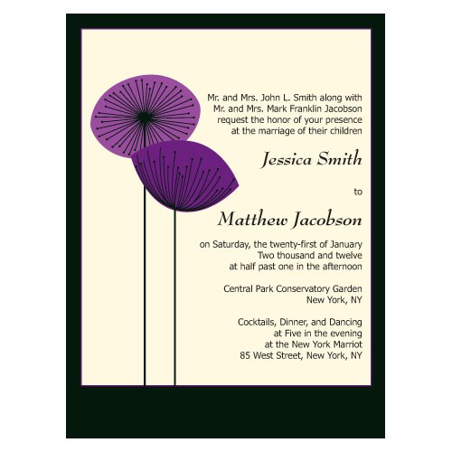Romantic Elegance Wedding Invitation