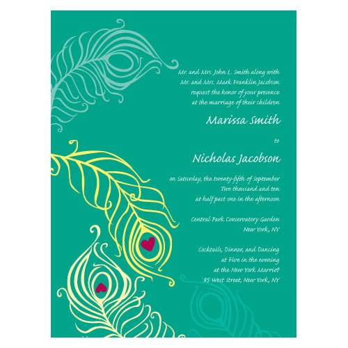 Perfect Peacock Wedding Invitation