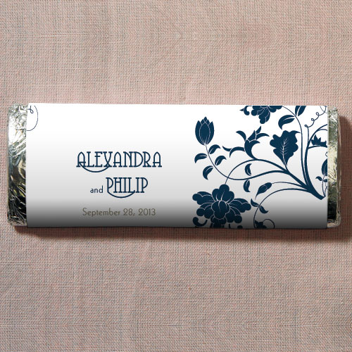 Floral Orchestra Chocolate Bar Wedding Favor