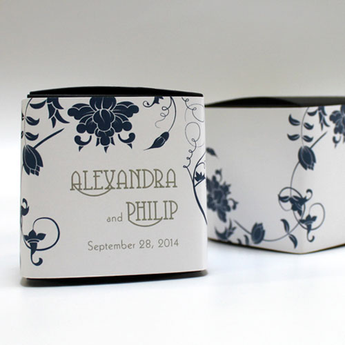 Floral Orchestra Wedding Favor Box Wrap
