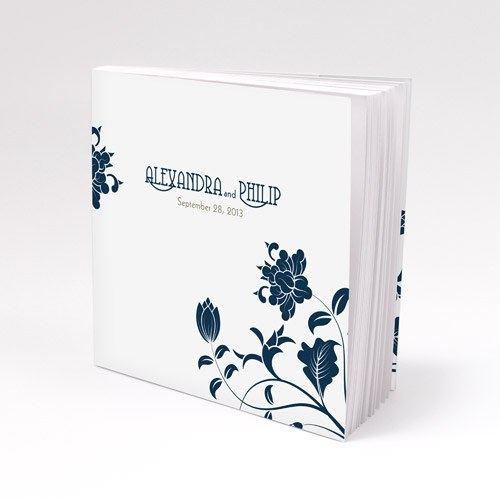Floral Orchestra Personalized Book Style Wedding Favor Notepad