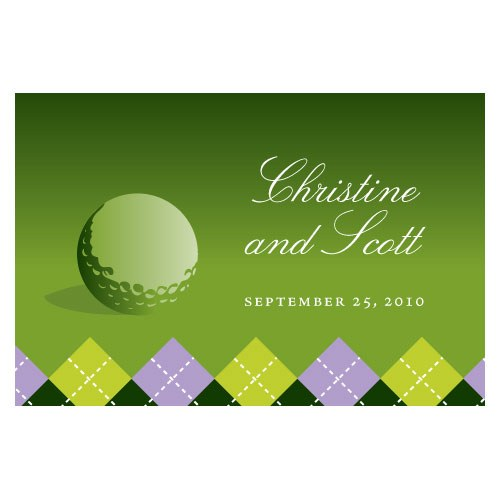 Golf Large Rectangular Favor Tags