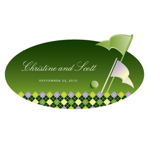 Golf Large Wedding Window Cling