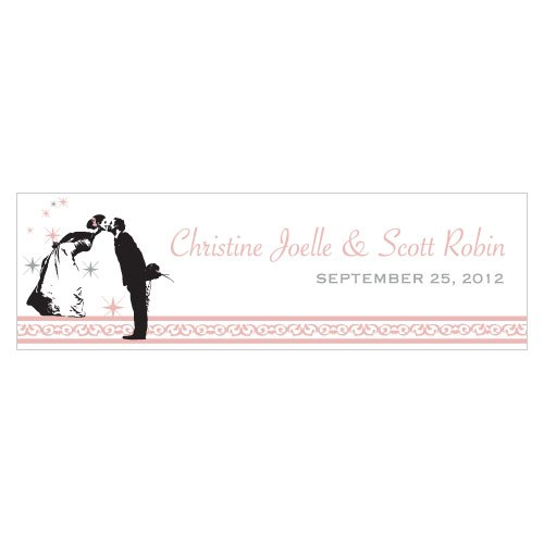 Vintage Hollywood Small Rectangular Wedding Favor Tag