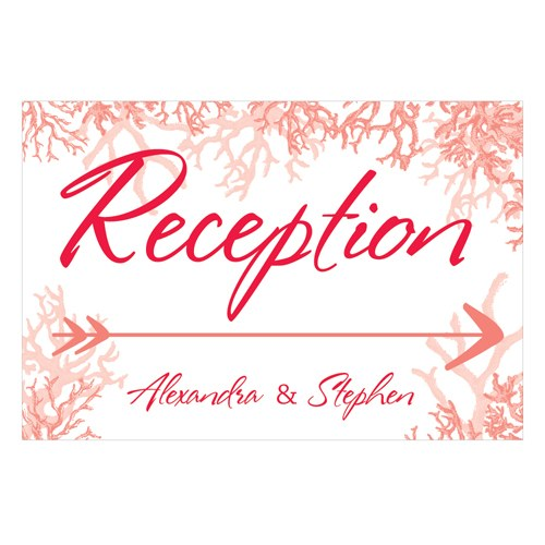 Reef Coral Wedding Reception And Ceremony Directional Road Signs