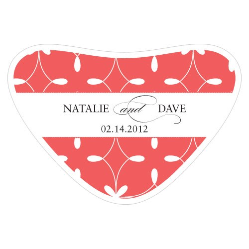 modern geometry stationery wedding heart container sticker
