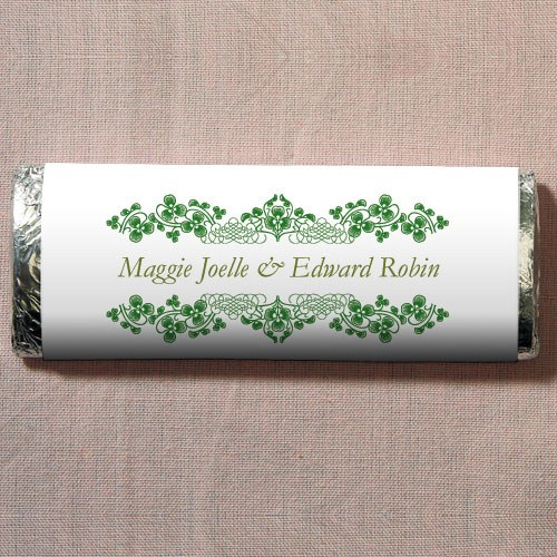 Luck Of The Irish Chocolate Bar Wedding Favor