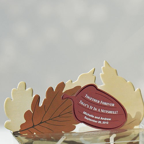 Together Forever Acorn Personalized Favor Sticker