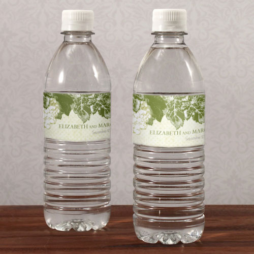 A Wine Romance Wedding Water Bottle Label