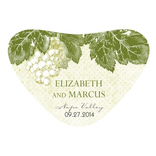 A Wine Romance Wedding Heart Container Sticker