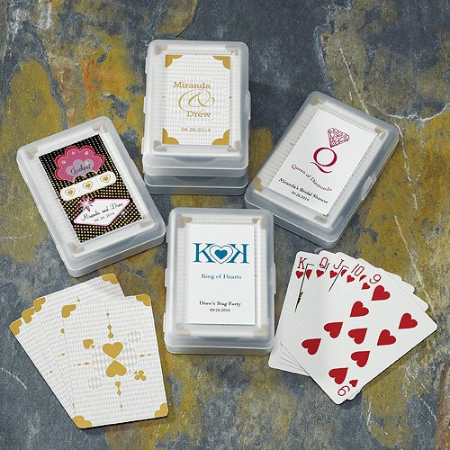 Classic Suits Playing Card Favor Sticker