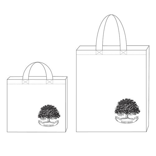 Family Oak Tree Wedding Signature Personalized 100 per cent Cotton Twill Tote Bag