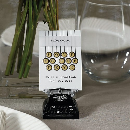 Vintage Typewriter Favor Card