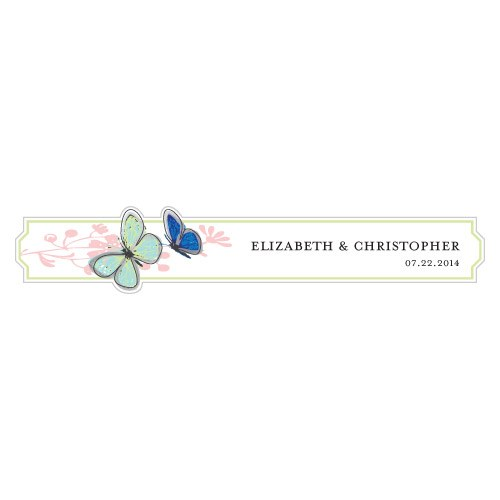 Butterfly Frame Personalized Favor Sticker