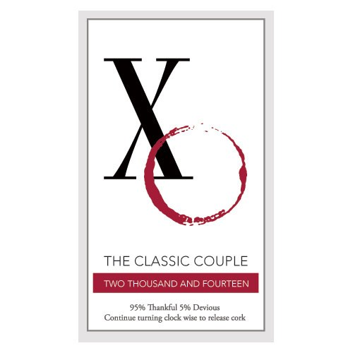 Classic Couple Favor Label