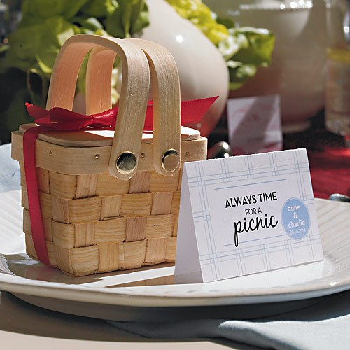 Picnic Wedding Tent Card