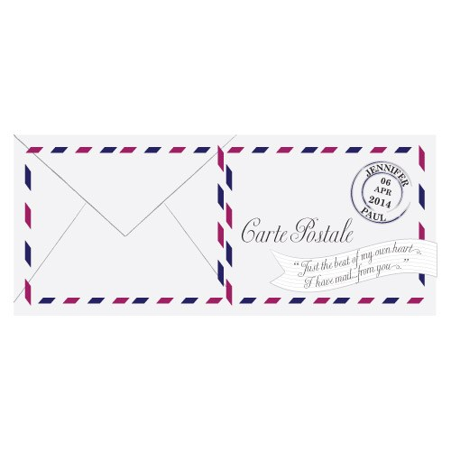 Carte Postale Folded Note Card