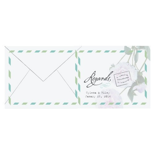 L'amour Peony Folded Note Card