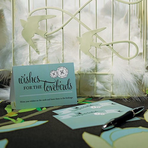 A Wish for the Love Birds Well Wishing Wedding Cards