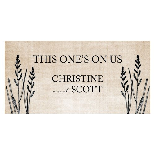 Rustic Country Wedding Small Ticket