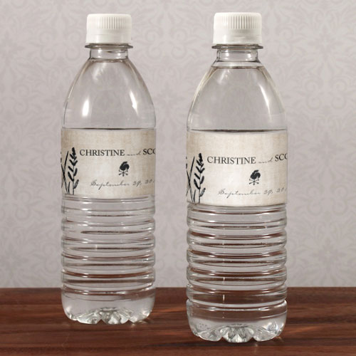 Wedding Water Bottle Labels.Rustic Country Water Bottle Label
