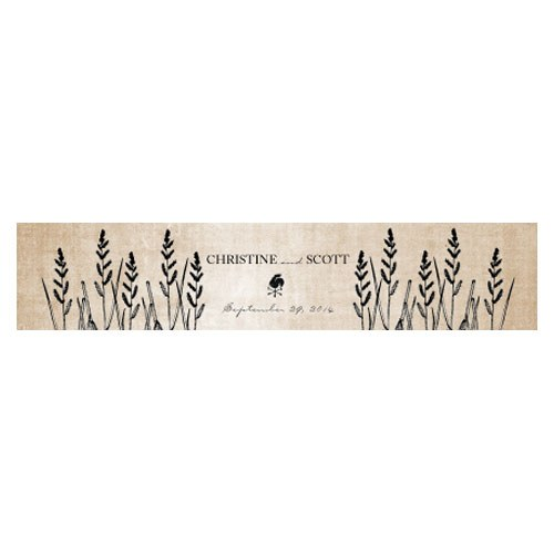 Rustic Country Wedding Water Bottle Label