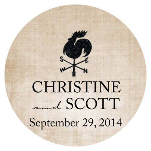 Rustic Country Wedding Small Sticker
