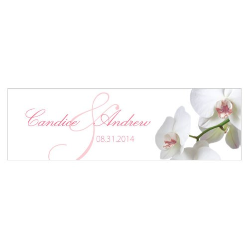 Classic Orchid Small Rectangular Wedding Tag