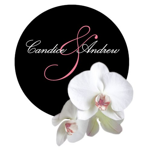 Classic Orchid Large Wedding Sticker