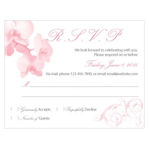 Classic Orchid Wedding RSVP