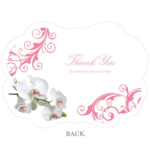 Classic Orchid Hand Fan Wedding Favor