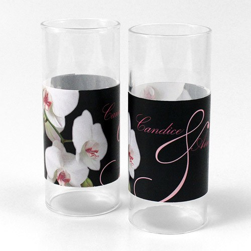 Classic Orchid Mini Luminary Votive Candle Wrap
