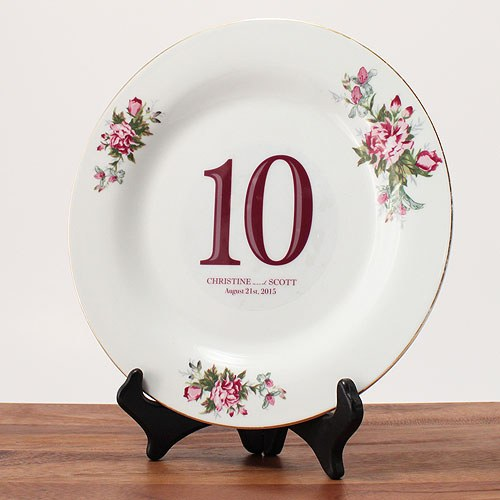 Classic Wedding Table Number Decal