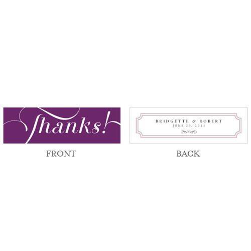 Expressions Wedding Small Rectangular Tag