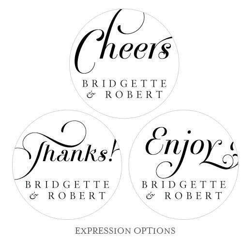 Expressions Wedding Large Sticker