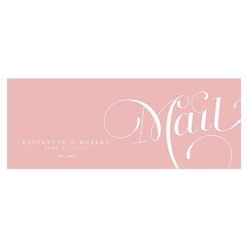 Expressions Wedding Post Note Card with Fold