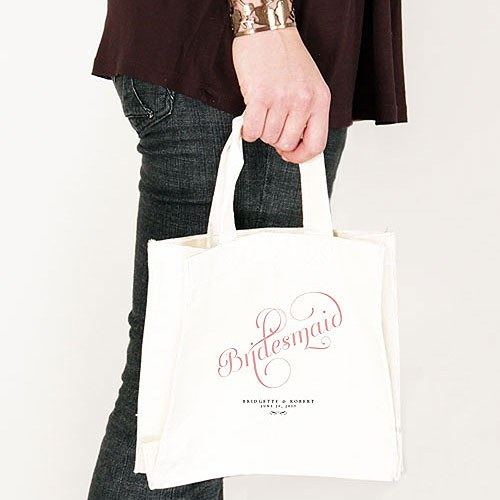Expressions Personalized 100% Cotton Twill Tote Bag