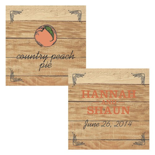 Fruit Themed Square Wedding Favor Tags