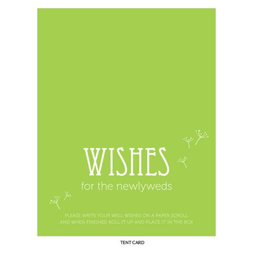 Dandelion Wishes Paper Wedding Wish Scrolls