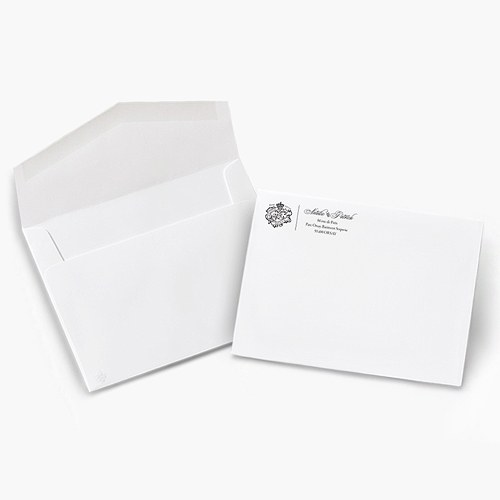 5 x 7 parisian love letter signature invitation envelopes the knot