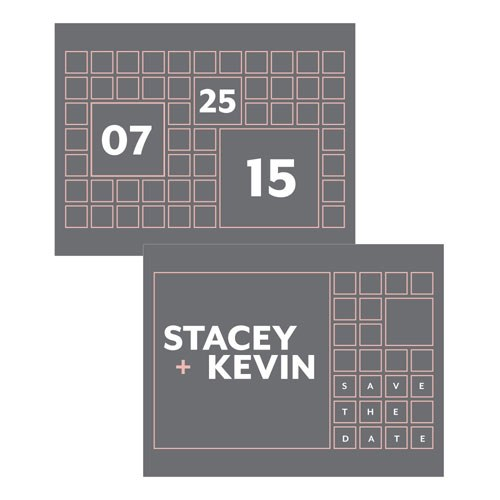 Times Square Wedding Save The Date Card