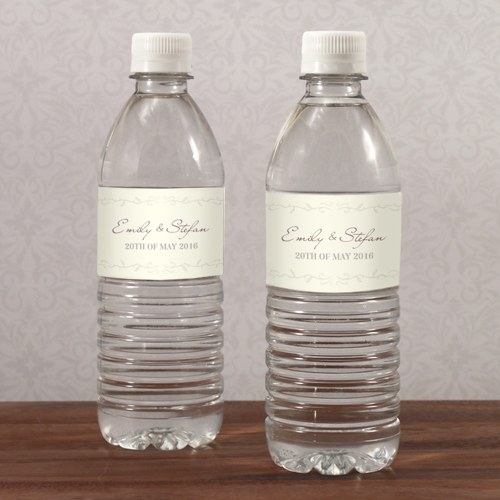 Equestrian Love Wedding Water Bottle Label