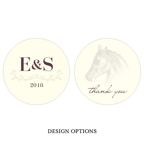 Equestrian Love Wedding Small Sticker