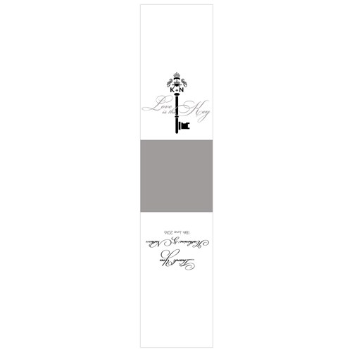Key Monogram Wedding Signature Wedding Favour Box Wrap