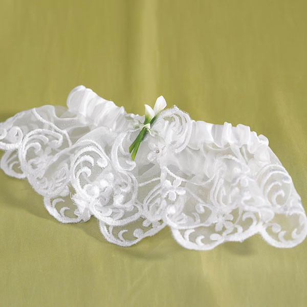 Bridal Beauty Calla Lily Toss Wedding Garter