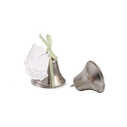 mini wedding kissing bell favors the knot shop
